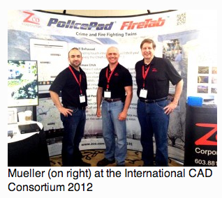 Mueller (on right) at the International CAD Consortium 2012